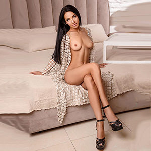 Book travel partner Frankfurt First Class Model Iveta for truck or car escort service with private models discreetly
